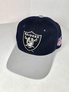 Vintage Oakland Raiders Starter The Natural Snapback Hat Black Team NFL WOOL