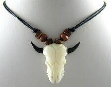 COOL HAND CARVED BONE SURFER necklace ; GA002