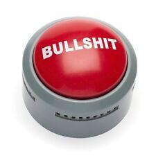 Novelty Bullshit Alert Button Desk Buzzer 5 Phrase Office Prank Light Up Joke