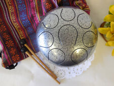 WuYou 8in Steel Tongue Drum Handpan Chakra Drum,Fine Hand tuned