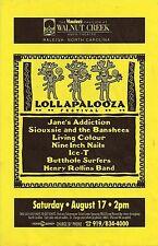 LOLLAPALOOZA U.S. 1991 POSTER: Jane's Addiction,Siouxsie,Nine Inch Nails,Rollins