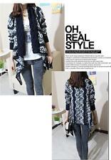 2016 Pattern Scarf Sweater Knit Cardigan Jacket NAVY BLUE Shop Online ONE SIZE