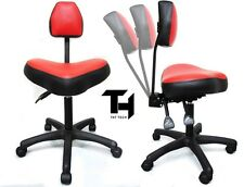 TAT TECH ERGONOMIC STOOL Red Tattoo Shop Equipment Furniture Supply Machine Ink