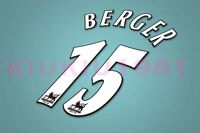 Liverpool Berger #15 PREMIER LEAGUE 97-06 White Name/Number Set