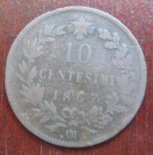 10 Centesimi del 1867 Regno d'Italia in Rame - V. Emanuele II .OM.-nr. 548