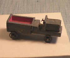 Old German Christmas Wood Erzgebirge Truck Putz Toy-Blue Paint