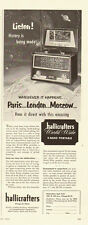 1953 vintage AD, Hallicrafters 'World Wide' 8-Band, Short wave RADIO -082413