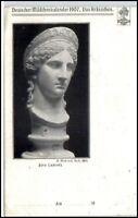 Kunst AK 1907 Skulptur Deutscher Mädchen-Kalender alte Postkarte
