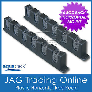 AQUATRACK HORIZONTAL 6-ROD STORAGE RACK - Boat/Fishing/Rod Holder/Garage/Home