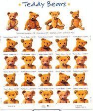 USA 2002 TEDDY BEARS SELF ADHESIVE SHEET MNH