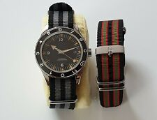 41mm Miyota Sapphire Glass Ceramic Bezel  Automatic Men's Watch Bond 20mm Straps