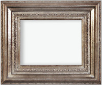 """5"""" WIDE Fancy Silver Oil Painting Wood Picture Frame 446AS"""