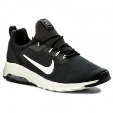 NIKE AIR MAX MOTION RACER TRAINERS BLACK WHITE TRAINER SIZE 10 EUR 45 RRP £99.95