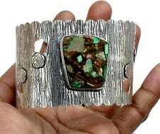 925 Sterling Silver Copper Azurite Malachite Gemstone Jewelry Cuff Bracelet S7-8