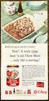 1960 La Choy Chop Suey Chow Mein Chinese Foods PRINT AD