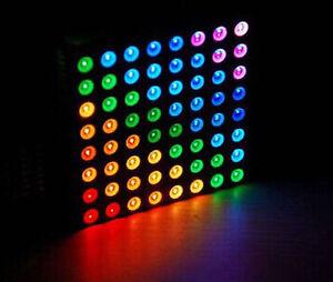 1PCS 5mm 8*8 8x8 Full Colour RGB LED Dot Matrix Display Module Common Anode UK