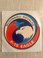 New listing Mcdonnell Douglas F-15 Eagle Decal Sticker rare vintage original Nos