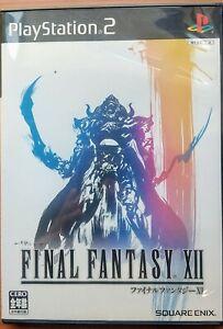 PS2 Final Fantasy Ⅻ 12  PlayStation2  JAPANESE GAME  JAPAN IMPORT SQUARE ENIX