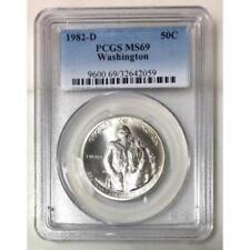 1982 D Washington Half Dollar PCGS MS69 *Rev Tye's* #205969
