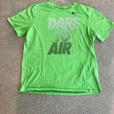 Nike Dare to Air Swoosh Athletic Cut Women's Green Size XL  T-Shirt