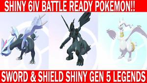 Pokemon Sword & Shield Shiny Kyurem, Zekrom, Reshiram  Legendaries Battle Ready!