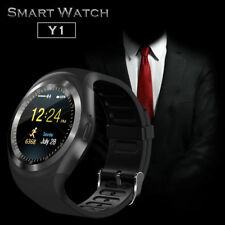 Y1 Bluetooth Smart Wrist Watch Phone Mate Android Samsung IOS Iphone Sony Black