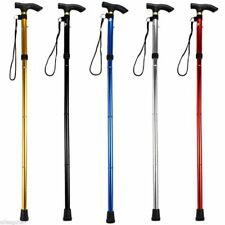 Adjustable Easy Folding Aluminum Metal Walking Sticks Collapsible Travel Cane US