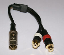 B&O Tandberg Grundig & Others DIN to RCA Adapter 5 PIN DIN to Gold RCA  NEW