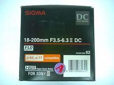 Sigma AF 18-200mm F3.5-6.3 II DC HSM Lens for Sony A-Mount