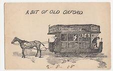 A Bit of Old Oxford, Horse Trram Postcard, B020