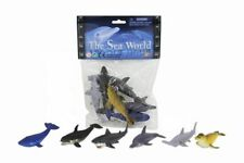 Sea Life Animals Shark Dolphin Whale 6 Pk Bath Model Figures Kids Educative Toy