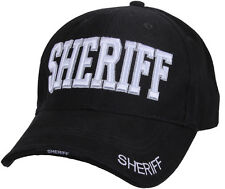 Black Sheriff Law Enforcement Adjustable Low Profile Cap