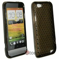 Cover for HTC ONE V Black Diamond Silicone Gel + Film
