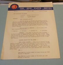 1938 REO Motor Car Company Parts Service Balanced Selling Dealer Tips Letter