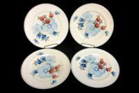 Noritake Versatone Glimmer Dinner Plate Blue Floral Made in Japan Set of 4