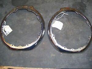 NOS pair of 1942 Dodge Headlight Bezels   Part # 973212 973213 D22
