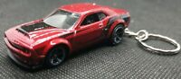 Hotwheels  dodge challenger srt demon keyring diecast car