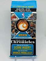 2019-20 Panini Chronicles NBA Basketball 15-card Value Hanger Cello Fat Pack