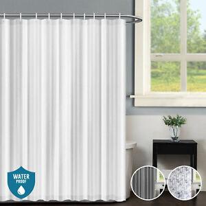 Ready Made Waterproof Antisplash Mildew Resistant Shower Curtain & 12 Hooks Ring