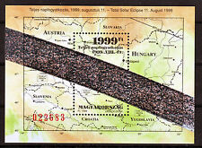 HUNGARY - 1999. Total Solar Eclipse with Hologram and Map - Souvenir sheet - MNH