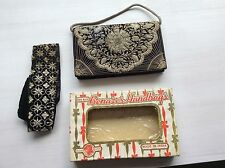 Vintage Benares India Evening Clutch With Matching Head Band In Original Box