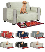 Quilted Sofa Slip Cover, Anti Slip Pet Furniture Sofa Dog Protector Couch Throw