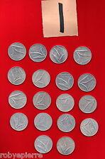 10 lire 18 monete 1951 52 53 54 1955 56 72 73 74 1975 76 77 78 79 80 81 82 1985