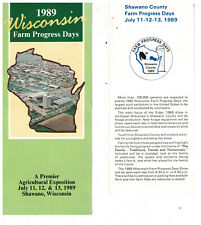 2 1989 Wisconsin Farm Progress Days Brochure Shawano