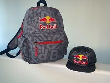 RED BULL ATHLETE ONLY HAT BUNDLE - SNAPBACK CAP BACKPACK RARE