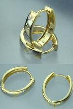 8 Kt Gold 333 Creolen 11 x 13 mm OVAL Klappcreolen Weiß NEU Breite: 3,3 mm NEU