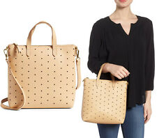 Madewell Mini Perforated Leather Crossbody Shoulder Bag in Linen