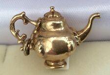 LOVELY qualità TIMBRATO VINTAGE pesante in oro 9 carati Caffettiera o Teiera Fancy Charm
