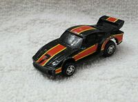 Rare Vintage Ideal Toy Corp 1982 Black & Red Porsche Diecast Car Made in Macao
