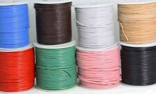 El Cordón De Cuero Redondeado-Pulido-Corte longitudes-Espesor 1.5 Mm Y 2 Mm -